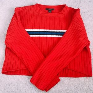Striped Red Sweater Ribbed
